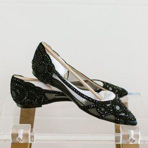 Badgley Mischka Women's Gigi Pointed Toe Flat 10